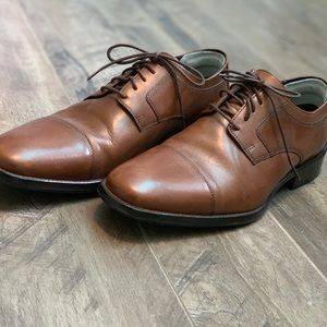 Brown Genuine Leather J. Murphy Shoes—like new!